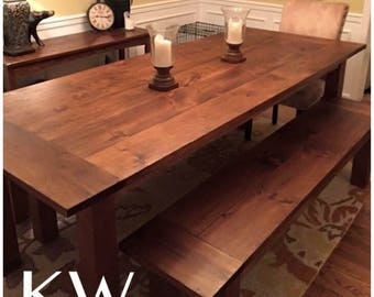 Classic Farmhouse Table - Up to 9' length
