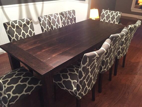 Custom Red Mahogany Farm Table Up To 9u0027 Length | Etsy