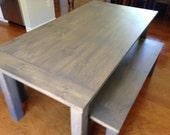 Classic Gray Farm Table -...