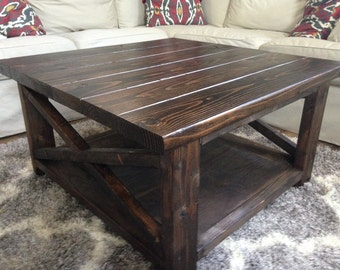 Rustic X Base Coffee Table - Any SIze!!!