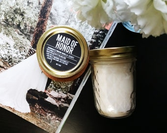 LIMITED EDITION - Maid of Honor Candle - Maid of Honor Gift - Bridesmaid Proposal Gift - Matron of Honor Candle