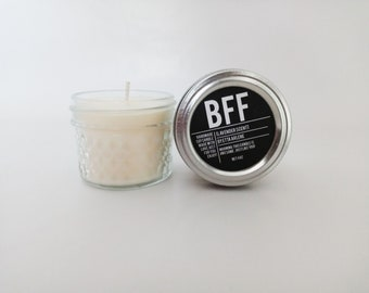 BFF Candle, Best Friend Forever Scented Candle, Gift for Best Friend, Gift Ideas For A Friend by Etta Arlene Candles