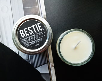 Bestie Scented Candle, Gift for Best Friend, gift for friend by Etta Arlene Candles