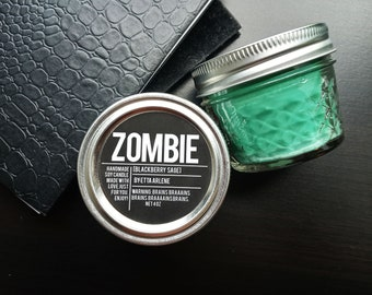 Zombie Candle - Scented Soy Candle - Halloween Candle - Spooky Fall Candle by Etta Arlene Candles 4 oz Jar