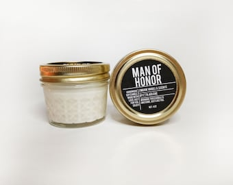 LIMITED EDITION - Man of Honor Handcrafted Candle - Bridesmaids Gift - Bridesmaid Proposal Gift - Bridesmaid Candle
