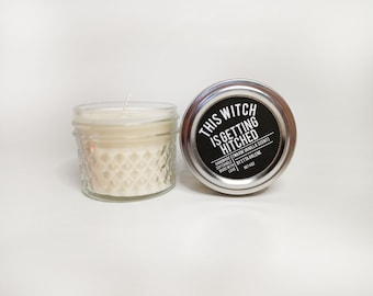This Witch Is Getting Hitched Handcrafted Soy Candle - Engagement Gift - Wedding Candles - Soy Candles