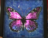 Purple or any color or color combo you want, mosaic stained glass butterfly