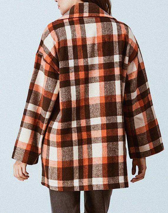 oversized plaid coat