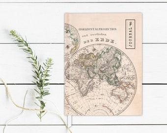 World Map Journal World Map Notebook Writing Journal World Map Hardcover Journal World Map Sketchbook Hardcover Sketchbook Lined Notebook