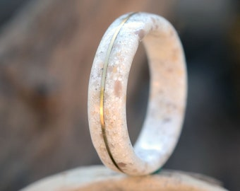 Natural stone rings. Stone rings for women. Stone rings for men. Stylish Stone Rings. Original stone ring. Concrete ring, concrete jewelry