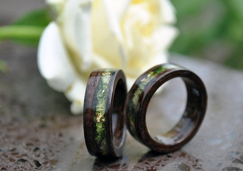 ring wood wood rings for men 5 Year Anniversary Wooden image 0