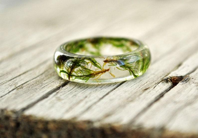 61db2ff10fed1 Antler men ring, Engagement Ring vintage style ring, promise ring for him  promise ring men natural moss, resin moss rings, resin ring flower