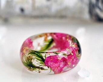 nature rings - nature inspired rings  - resin ring - nature resin rings - nature rings resin - eco resin - eco resin ring -resin nature ring