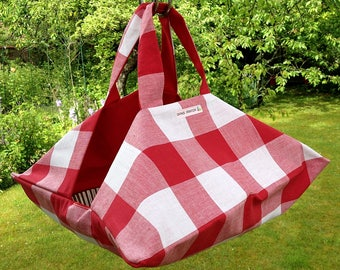 bag pie red gingham