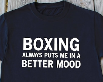 Boxing Shirt Boxing Gift Funny Christmas Gifts For Him Boxer T-Shirt Boxing Lover Gift Shirt Funny Gifts For Men