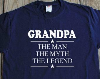 2df38161e56c4 Grandpa Shirt The Man The Myth The Legend Shirt Gift For Grandpa Pop Pop  Fathers Day Gift Christmas Gifts Grandpa T-shirt Fathers Day Gifts