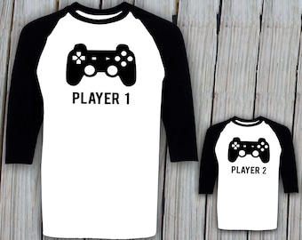 7b1aedf1d Player 1 Player 2 Matching Shirts Dad Son Matching Shirts Fathers Day Gift  Player 1 Player 2 Shirts Father Son Shirts Father Baby Matching