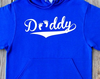 Daddy Hoodie Gift For Daddy Baseball Dad Father's Day Cute Pullover Hoodie