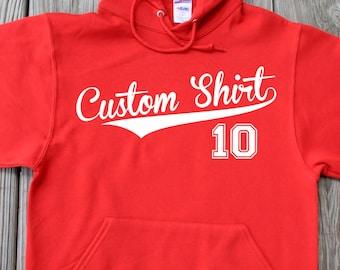 Personalized baseball Hoodie Baseball Gift for Dad Christmas Gift Thanksgiving Gift Hoodie