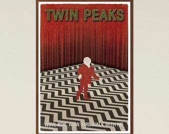 TV Show Inspired Large Print, Twin Peaks Red Room, Minimalist Poster, Printable Wall Art, Modern Home Decor, Instant Download