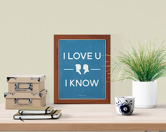 I Love You To The Death Star And Back Star Wars Minimalist