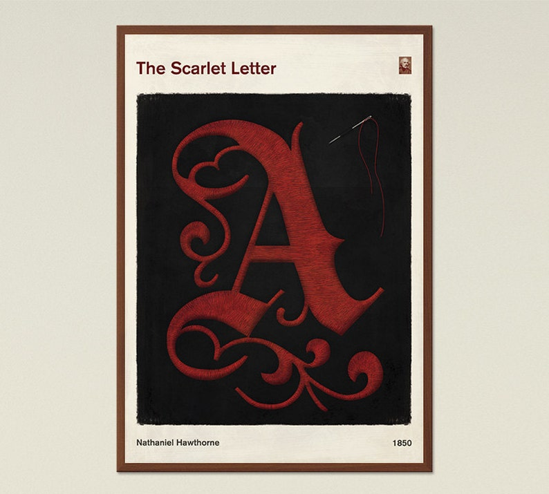 The Scarlet Letter Large Literary Book Cover Print Bookish