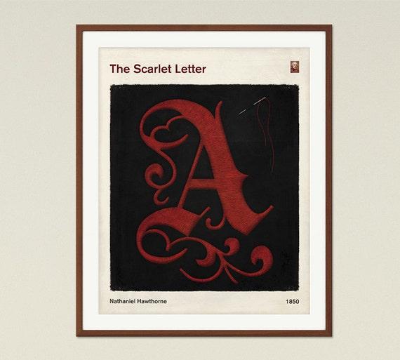 Scarlet Letter Cover: The Scarlet Letter Medium Literary Book Cover Print