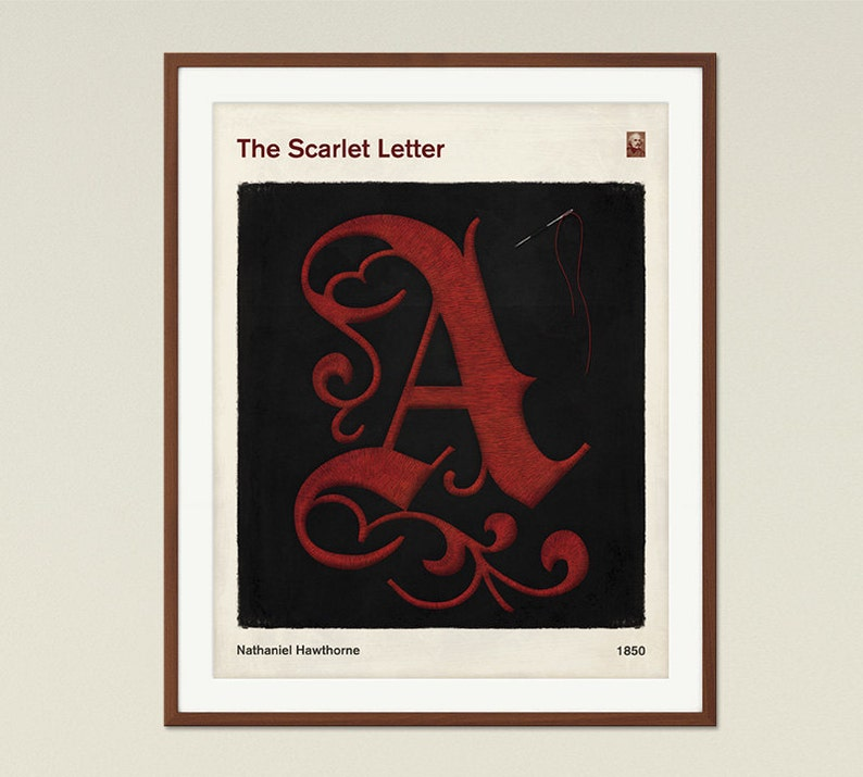 The Scarlet Letter Medium Literary Book Cover Print Bookish
