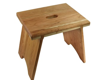 Incredible Small Wooden Cherry Step Stool Etsy Alphanode Cool Chair Designs And Ideas Alphanodeonline
