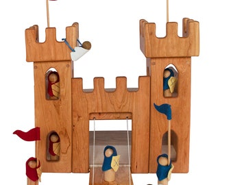 Cherry Wood Castle with Accessories