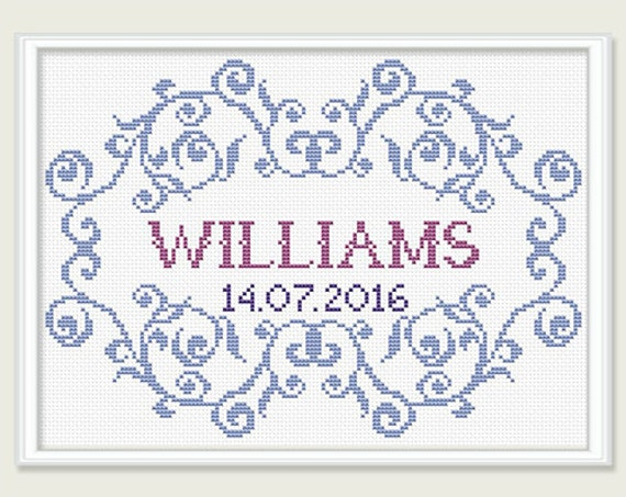 Wedding Cross Stitch Pattern Bridal Cross Stitch Pattern Etsy