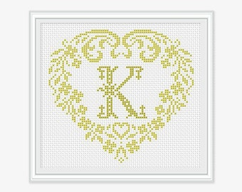 Personalized Family Monogram - Cross stitch pattern - Embroidery - Wedding Gift - Cross stitch Monogram - PDF - INSTANT DOWNLOAD