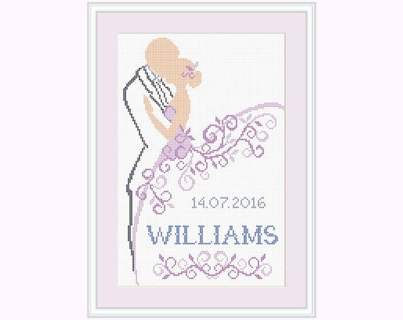 Cross Stitch Pattern Wedding Gift Wedding Cross Stitch Etsy Adorable Cross Stitch Wedding Patterns