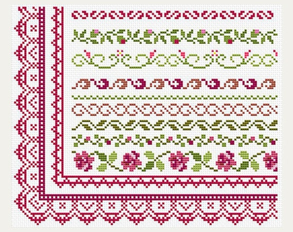 Cross Stitch Patterns Border Counted