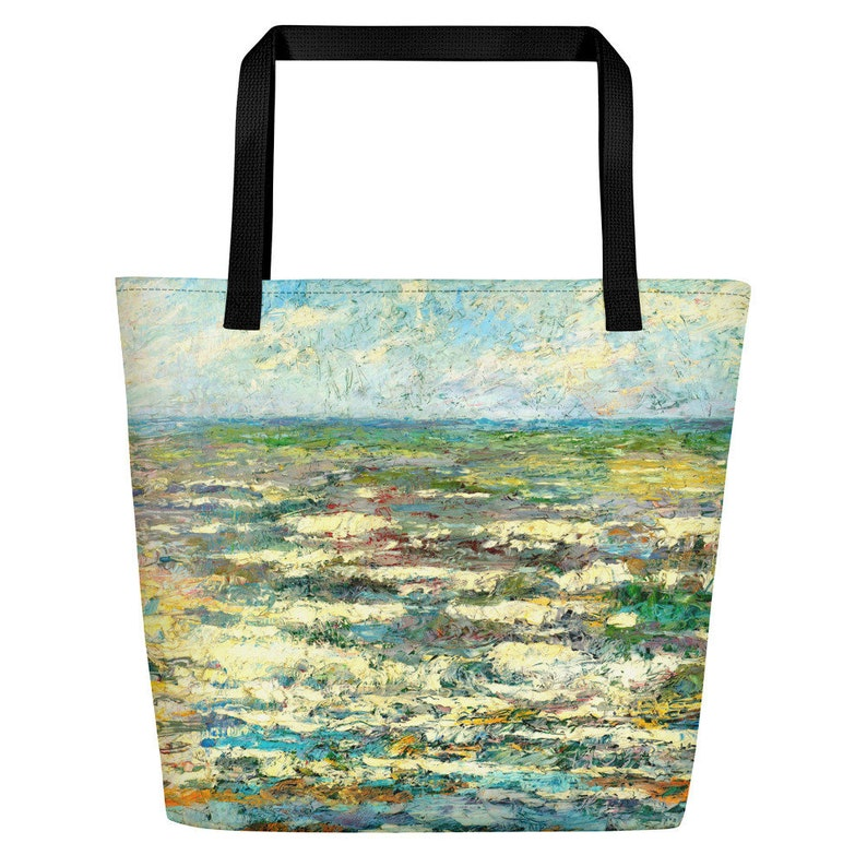 Shopping bag for summer. Trendy beach tote Bag with pocket