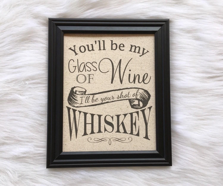 Cotton Wedding Gift: Cotton Anniversary Gift Wedding Gift Whiskey Wine Linen