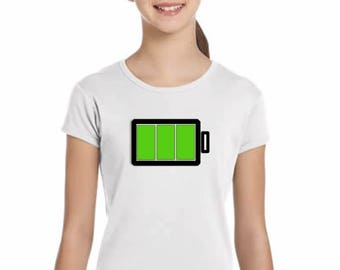 Girl t-shirt or body FULL BATTERY