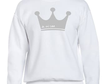 Men sweater CROWN KING PRINCE de mi casa