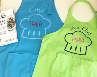 Apron for adults or kids CHEF / MINI CHEF