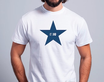 Round neck men short sleeve t-shirt STAR IT DAD
