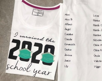 TEACHERS: Women or men tee I SURVIVED the 2020 SCHOOL year