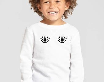 Boy/girl/baby t-shirt or body EYES WIDE OPEN