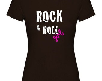 Girl t-shirt or body ROCK & ROLL GIRL