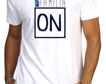 Round neck men short sleeve t-shirt MODO FAMILIA ON