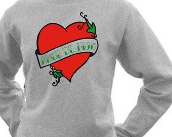 Round neck women sweater AMOR de HIJO/HIJA