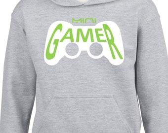 Men, women, toddler, babies hoodies GAMER - MINI GAMER