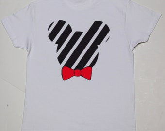 Boy t-shirt or body MICKEY with red tie