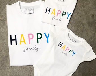Family tee HAPPY FAMILY