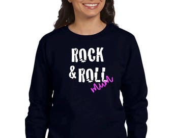 Round neck women sweater ROCK & ROLL MUM