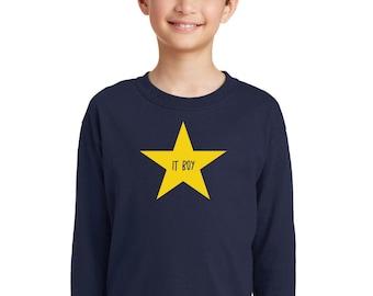 Round neck boy t-shirt IT BOY in a STAR